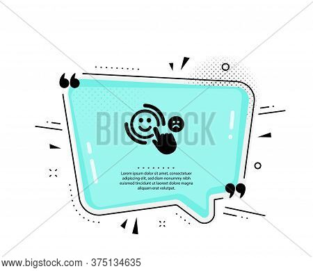 Customer Satisfaction Icon. Quote Speech Bubble. Positive Feedback Sign. Smile Symbol. Quotation Mar