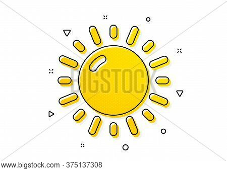 Summer Sun Sign. Sunny Weather Forecast Icon. Yellow Circles Pattern. Classic Sunny Weather Icon. Ge