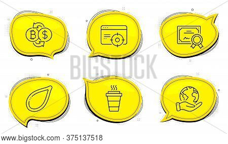 Seo Targeting Sign. Diploma Certificate, Save Planet Chat Bubbles. Bitcoin Exchange, Pumpkin Seed An