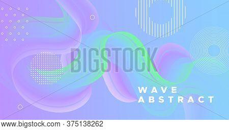 3d Vibrant Background. Pastel Modern Design. Liquid Creative Template. Flow Gradient Movement. Wave