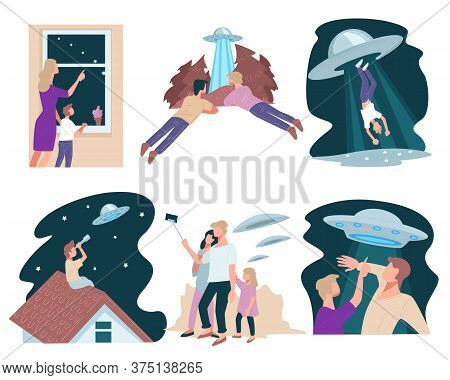 Interaction Of Ufo And People, Abduction Of Flying Saucer