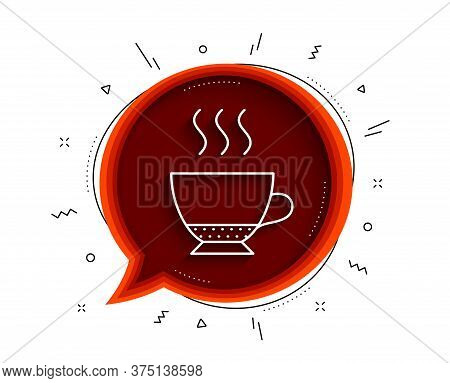 Espresso Coffee Icon. Chat Bubble With Shadow. Hot Drink Sign. Beverage Symbol. Thin Line Espresso I