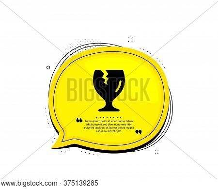 Fragile Package Icon. Quote Speech Bubble. Delivery Service Sign. Safe Shipping Symbol. Quotation Ma