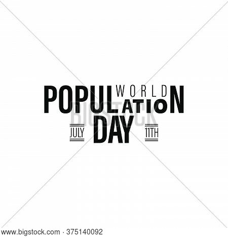 Design For World Population Day Greeting-11 July