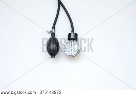 A New Stethoscope, Close View, White Background