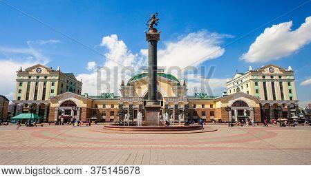 Krasnoyarsk, Russia - July 06, 2016: Krasnoyarsk Trans-siberian Railway Station In Russia. Krasnoyar
