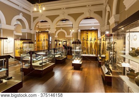 Colombo, Sri Lanka - February 27, 2017: Exhibits Inside The National Museum Of Colombo, Sri Lanka. S