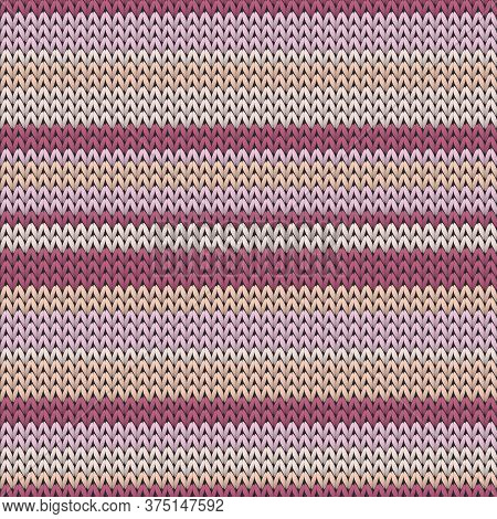 Vintage Horizontal Stripes Christmas Knit Geometric Seamless Pattern. Scarf Knit Tricot  Fabric Prin