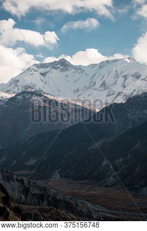 Mountains Trekking Annapurna Circuit, Marshyangdi River Valley, Himalaya, Nepal, Asia