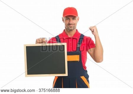 Handyman Services Concept. Easy And Quick. Handyman Service. Man Helpful Laborer. Repair And Renovat