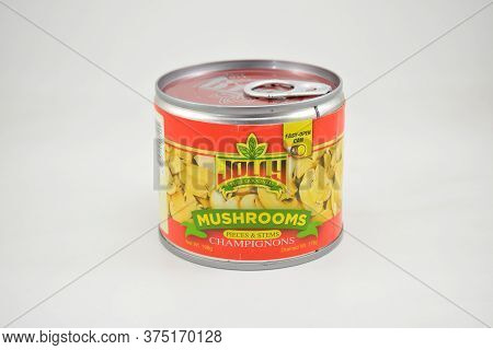 Manila, Ph - June 26 - Jolly Mushrooms Pieces And Stems Champignons Can On June 26, 2020 In Manila,