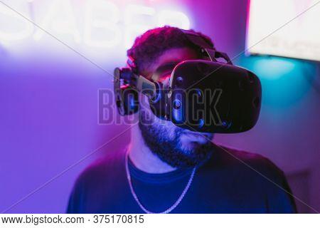 Cyberpunk Style. Neon And The Digital World.