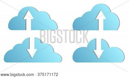 Beautiful Blue Virtual Modern New It Digital Smart Clouds With Loading And Unloading Computer Inform