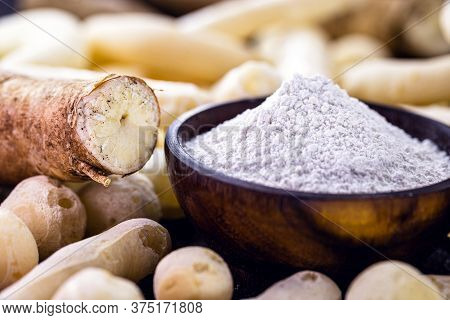 Brazilian Manioc Flour, Called Polvilho, Manioc Starch, Carimã Or Gum, Is The Manioc Starch. Rustic