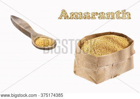 Amaranth Grain In The Paper Bag - Amaranthus