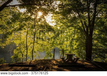 A Picnic Area At Grundy Lakes Park In Tracy City, Tennessee Of The South Cumberland State Park Syste