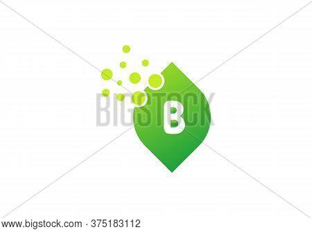 Organic Leaf Logo, Letter B Icon Vector. B Logo Design With Leaf Concept