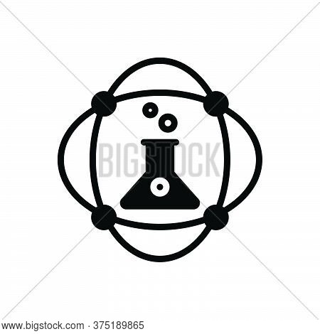 Black Solid Icon For Science Hospital Lab Laboratory Chemistry Atomic