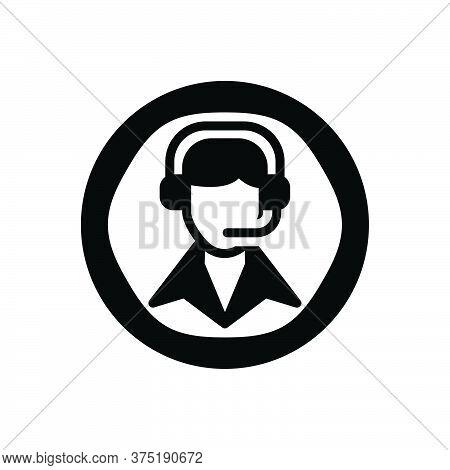 Black Solid Icon For Call-center Call Center Customer-service Customer Service  Helpline Operator Co