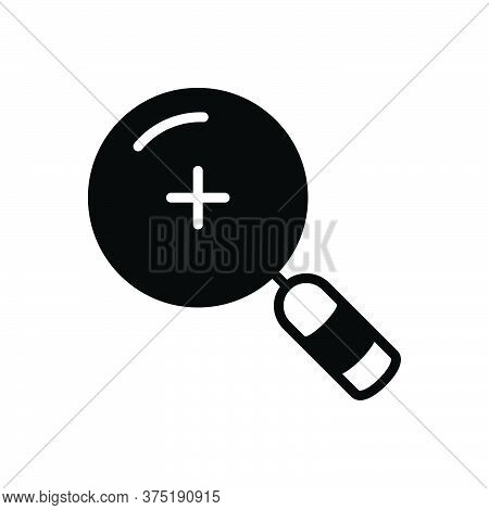 Black Solid Icon For Find Search Quest Discovery Finding Magnifier Transparent Optical
