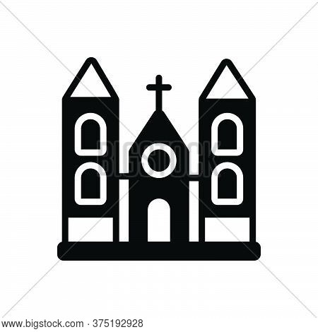 Black Solid Icon For Church Holy Place Stead Collocation Religion Worship Sacred
