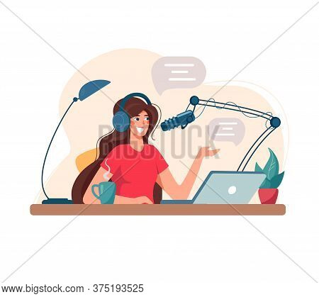 Girl Records Podcast, Conducts A Webinar, Online Courses, The Concept Of An Educational Podcast. The