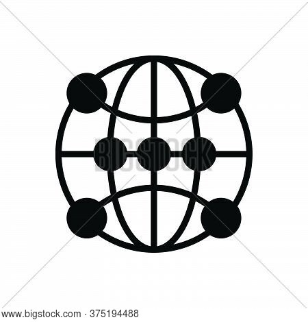 Black Solid Icon For Global-communication Global-networking Global Communication Tech Digitalisation