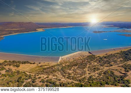 The dam next to Gaborone the capital of Botswana, water reserve for the city
