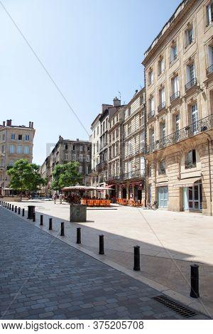 Bordeaux , Aquitaine / France - 10 30 2019 :  Bordeaux Place Du Palais Palace Square In Old City Ten