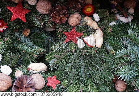 Czech Christmas Decoration As Nice Color Background