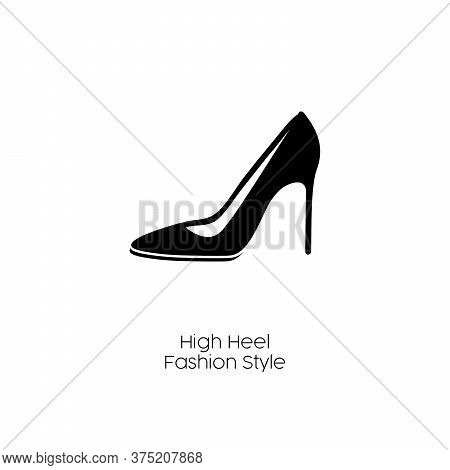 High Heels Vector Icon. High Heels Editable Stroke. High Heels Flat Symbol For Use On Web And Mobile