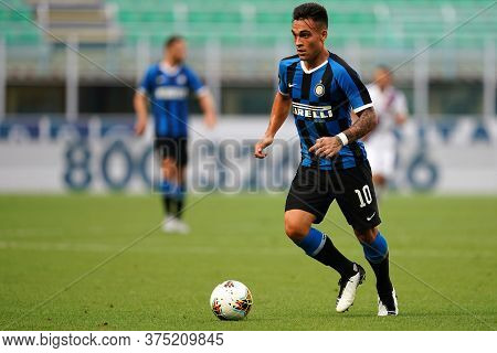 Milano, Italy. 05th July 2020. Italian Football Serie A. Lautaro Martinez Of Fc Internazionale  Duri