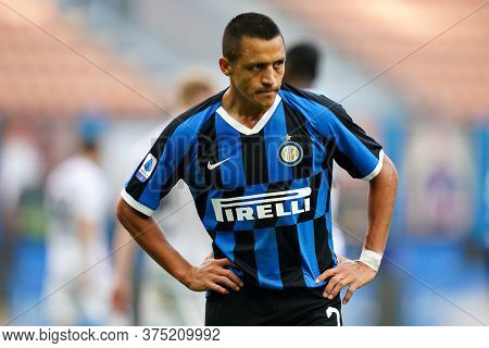 Milano, Italy. 05th July 2020. Italian Football Serie A. Alexis Sanchez Of Fc Internazionale  During
