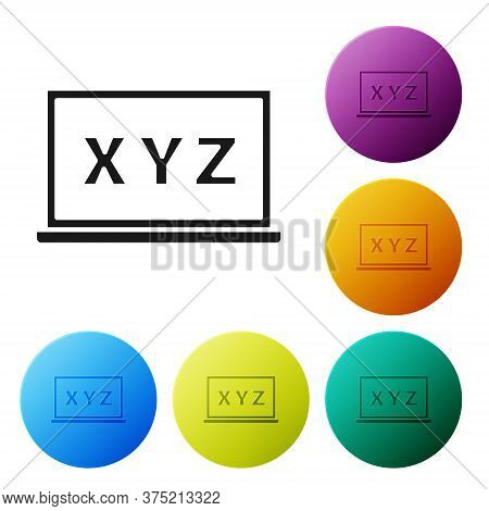 Black Xyz Coordinate System On Chalkboard Icon Isolated On White Background. Xyz Axis For Graph Stat