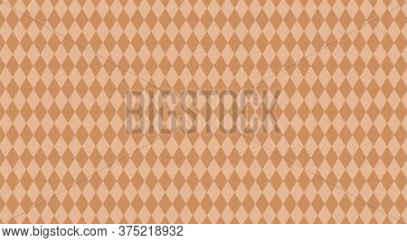 Light Brown Rhombus Pattern For Background, Rhombus Texture For Wall Decoration, Wallpaper Fabric Cl