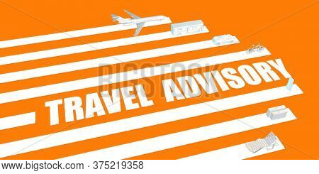 Travel Advisory for Post Pandemic Recovery Concept 3d Render