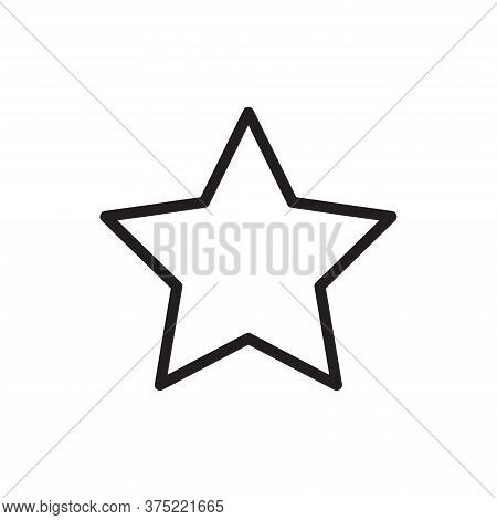 Star Icon Isolated On White Background. Star Icon In Trendy Design Style For Web Site And Mobile App