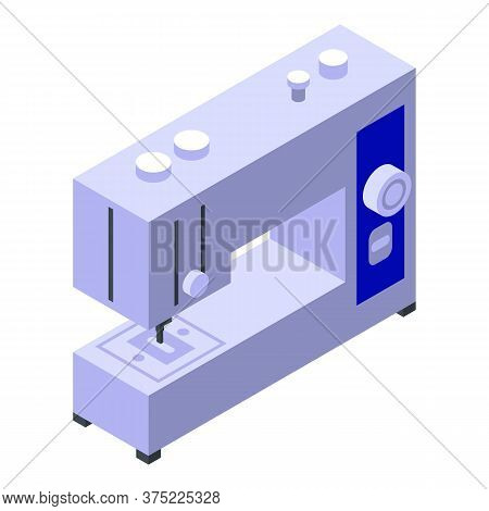 Sewing Machine Icon. Isometric Of Sewing Machine Vector Icon For Web Design Isolated On White Backgr