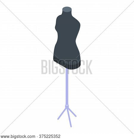 Plastic Mannequin Icon. Isometric Of Plastic Mannequin Vector Icon For Web Design Isolated On White
