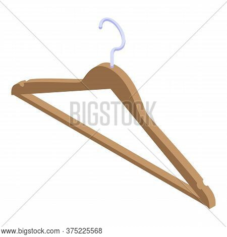 Clothes Hanger Icon. Isometric Of Clothes Hanger Vector Icon For Web Design Isolated On White Backgr