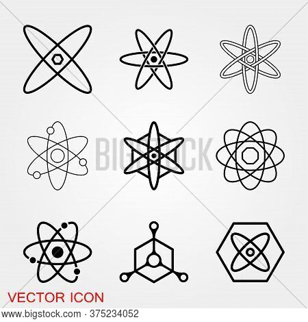 Atom Icon, Black Science Fiction Atom Icon