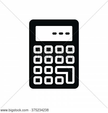 Black Solid Icon For Calculate Calculation Mathematics Add Solve