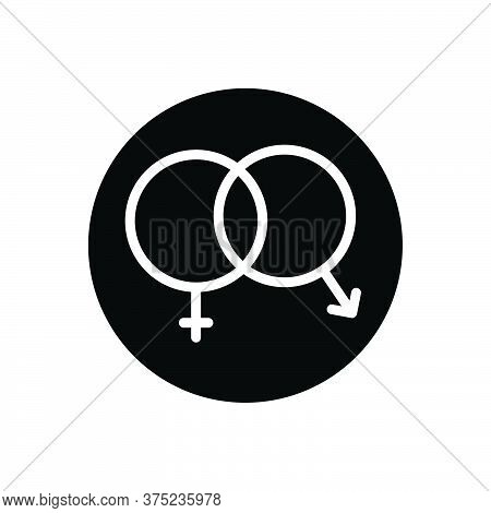 Black Solid Icon For Sex Unisex Heterosexual Gender Coitus Cohabitation Coexistence  Shape Sexual In