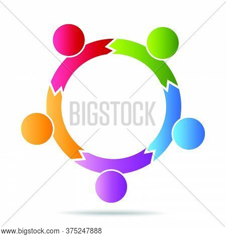 08-community, Support Sign  People Symbol. Vector Illustration