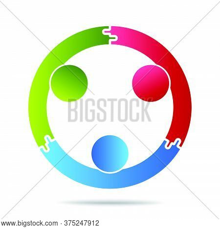02-community, Support Sign  People Symbol. Vector Illustration