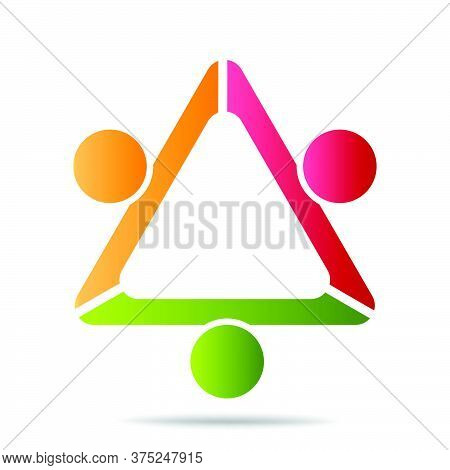 03-community, Support Sign  People Symbol. Vector Illustration