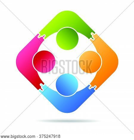 04-community, Support Sign  People Symbol. Vector Illustration