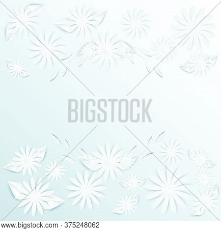 07-paper Flowers  Set Isolated  Vector Illustration.