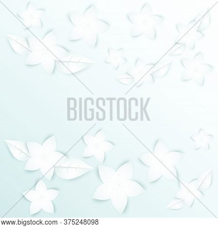 04-paper Flowers  Set Isolated  Vector Illustration.
