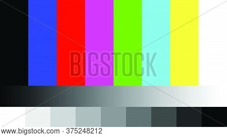 Tv No Signal Footage Background Color Bar Rgb Static Screen